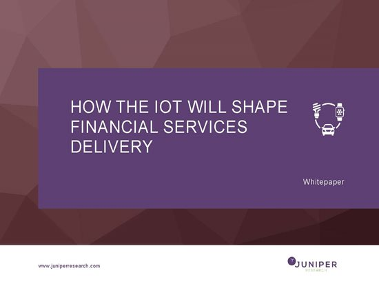 How the IoT Will Shape Financial Services Delivery Cover Page