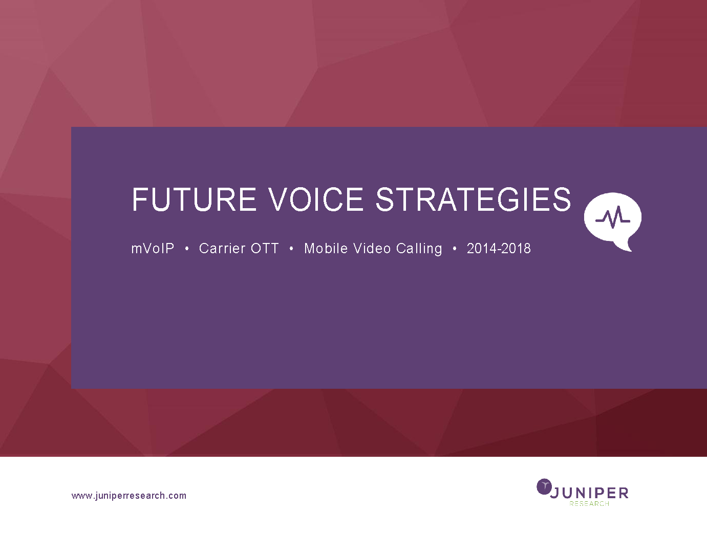 Future Voice Strategies