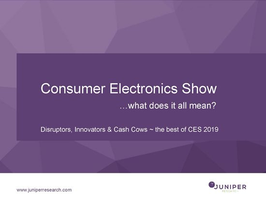 Consumer Electronics 2019: Disruptors, Innovators & Cash Cows ~ the best of CES 2019 Cover Page