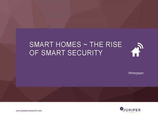 Smart Homes ~ the Rise of Smart Security Report Cover