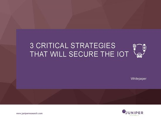 3 Critical Strategies that will Secure the IoT Cover Page