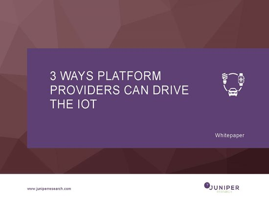 3 Ways Platform Providers Can Drive the IoT Cover Page