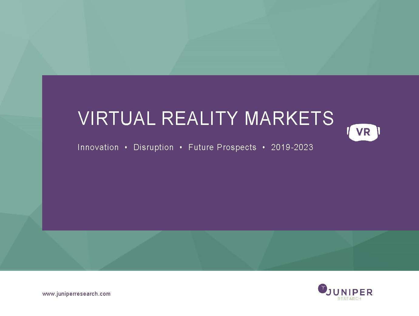 Virtual Reality Markets Research Report | Innovation