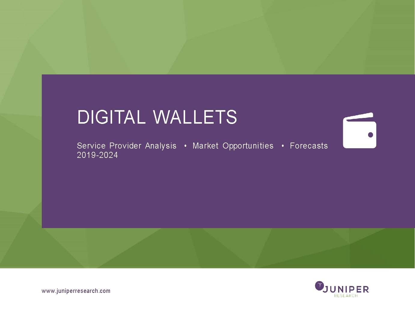 Digital Wallets: Service Provider Analysis, Market Opportunities & Forecasts 2019-2024