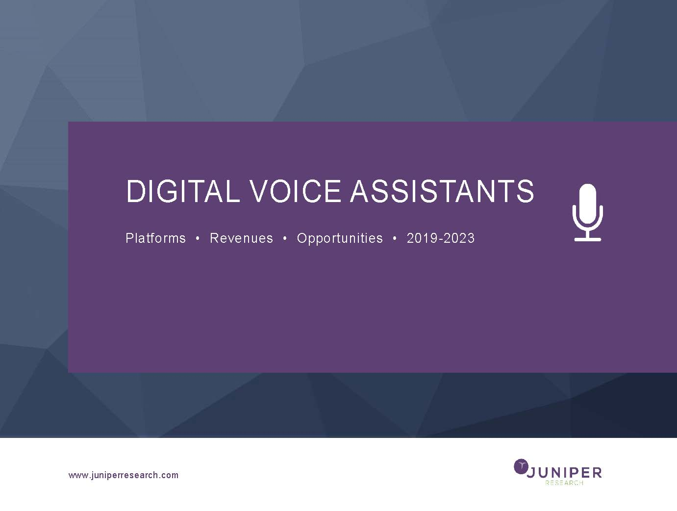 Digital Voice Assistants: Platforms, Revenues & Opportunities 2019-2023