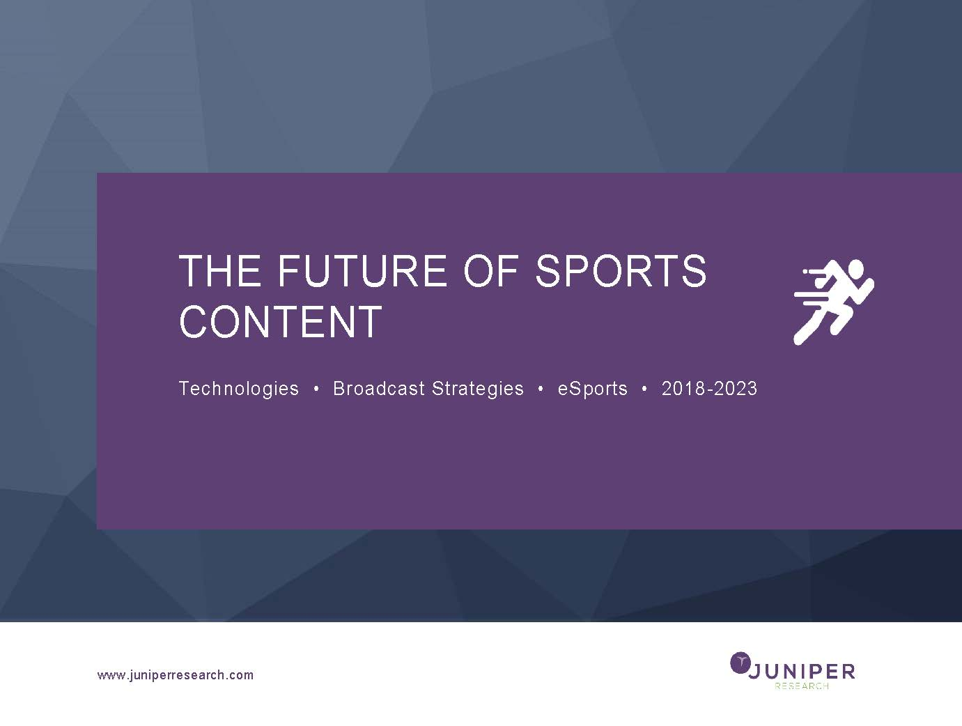 The Future of Sports Content: Technologies, Broadcast Strategies & eSports 2018-2023 Full Research Suite