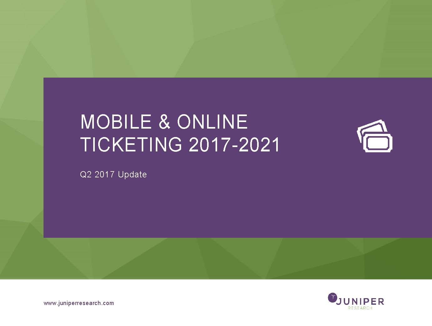 Mobile & Online Ticketing - Q2 2017
