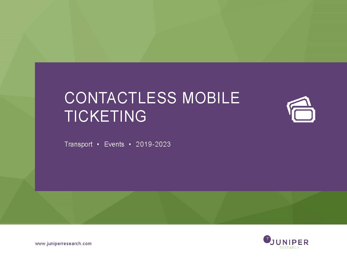 Contactless Mobile Ticketing 2019-2023