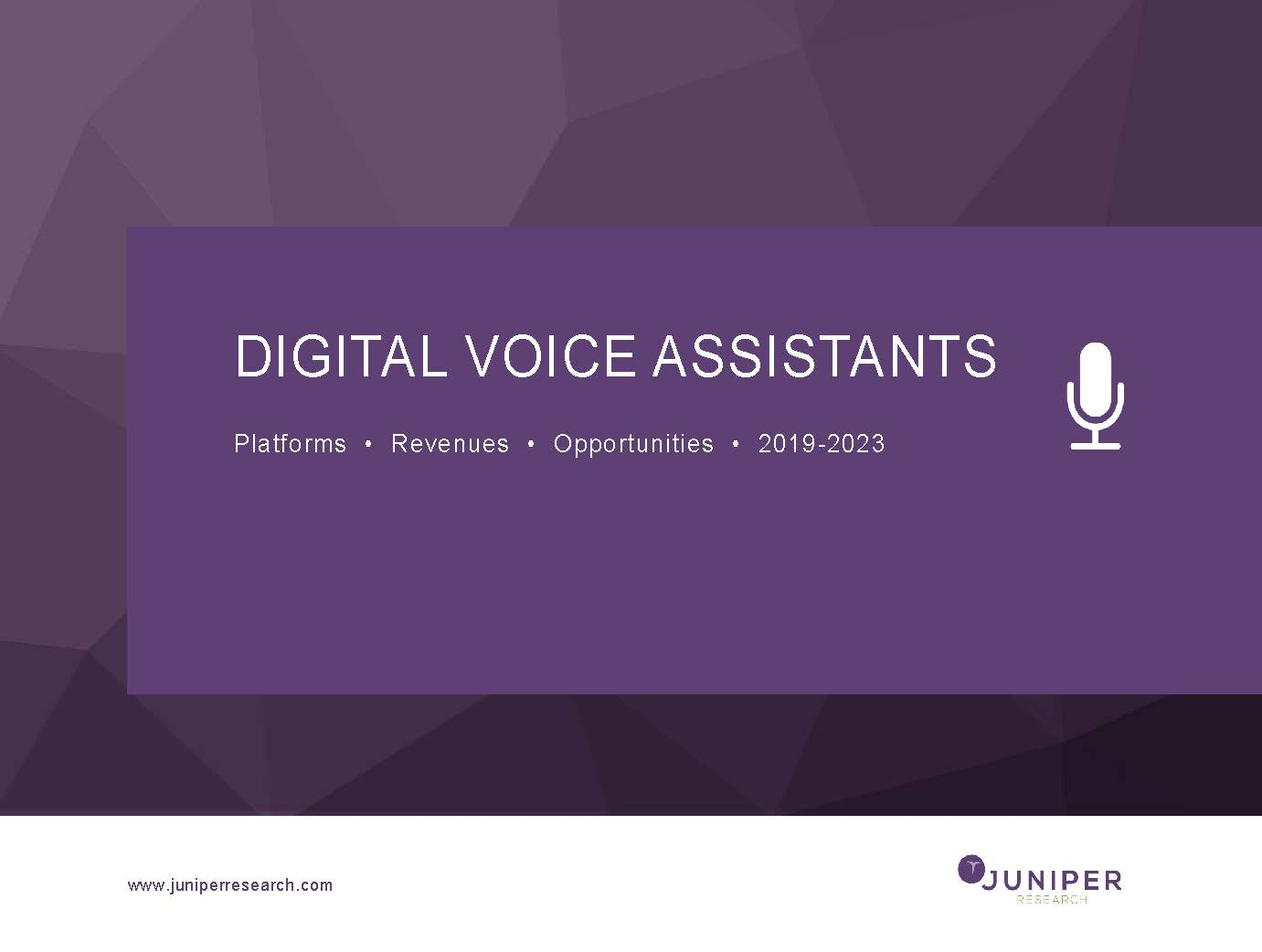Digital Voice Assistants: Platforms, Revenues & Opportunities 2019-2023 Full Research Suite