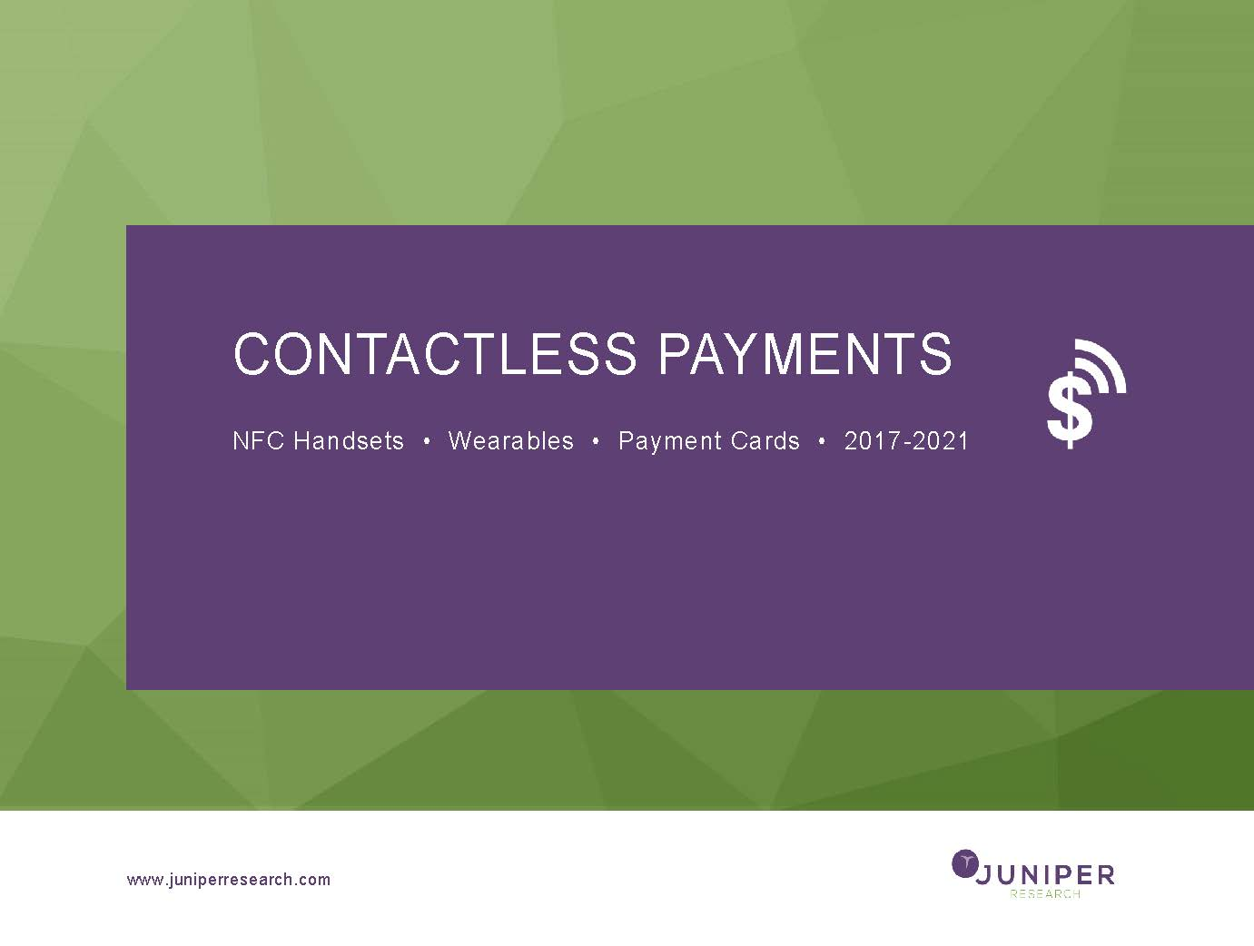 Contactless Payments - Q4 2017