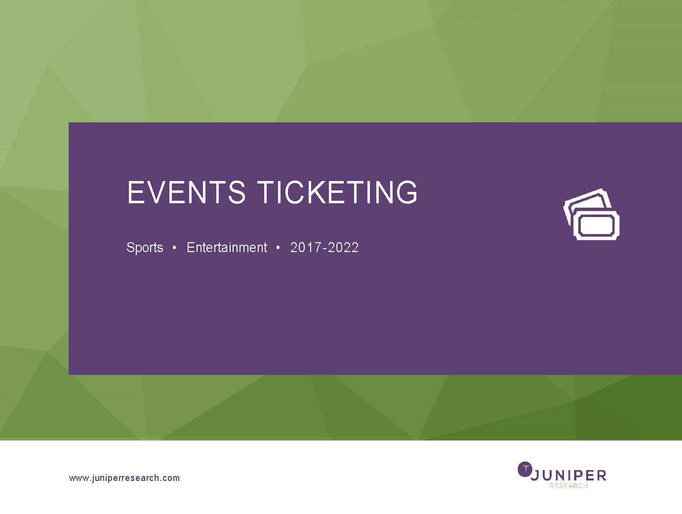 Events Ticketing 2017-2022