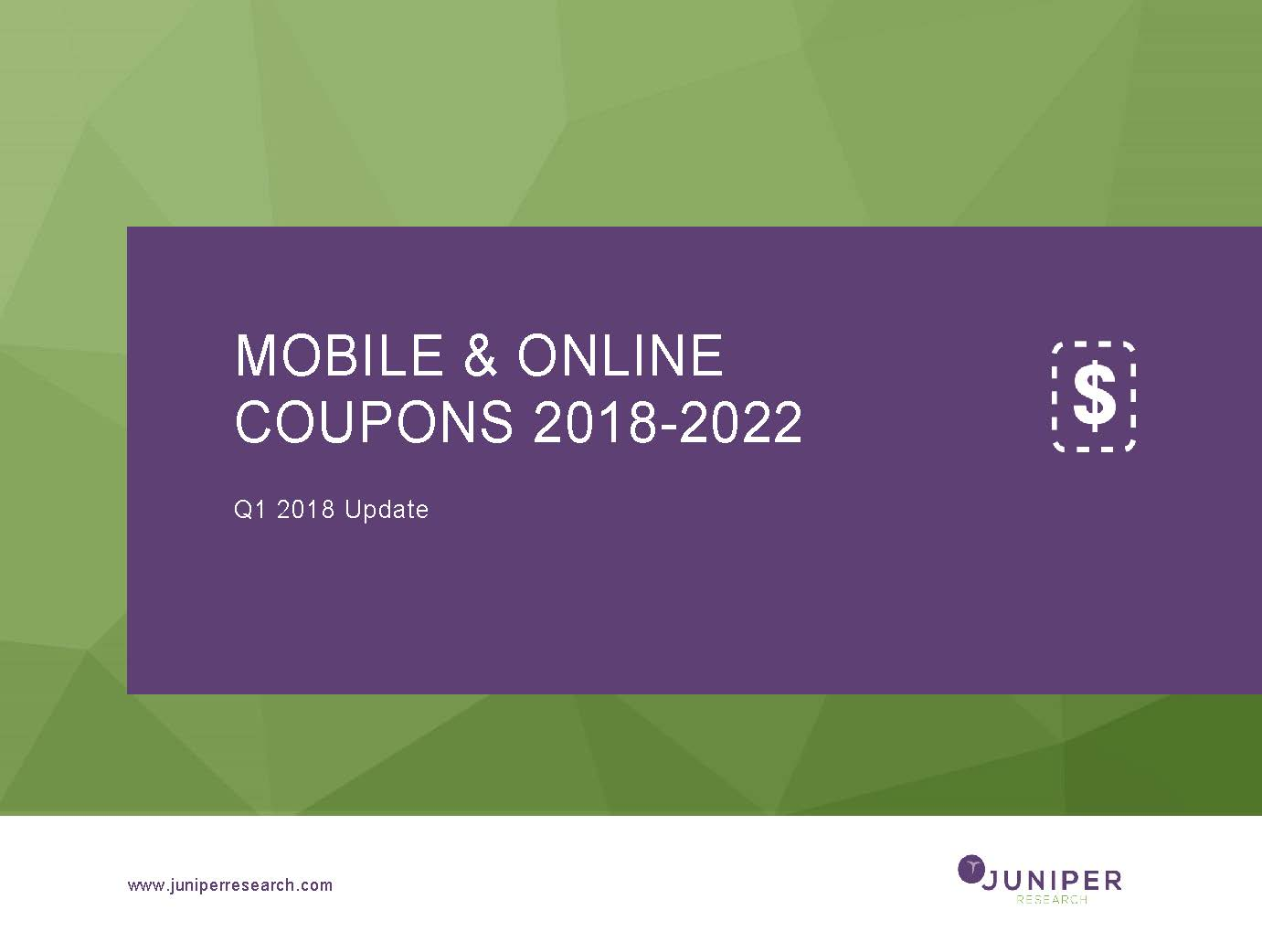 Mobile & Online Coupons - Q1 2018