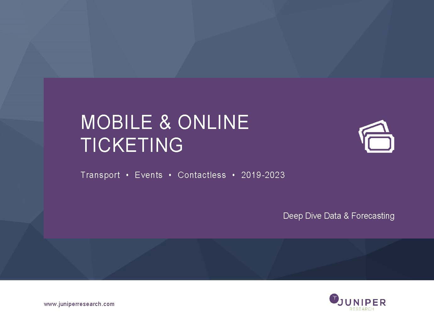Mobile & Online Ticketing: Deep Dive Data & Forecasting 2019-2023