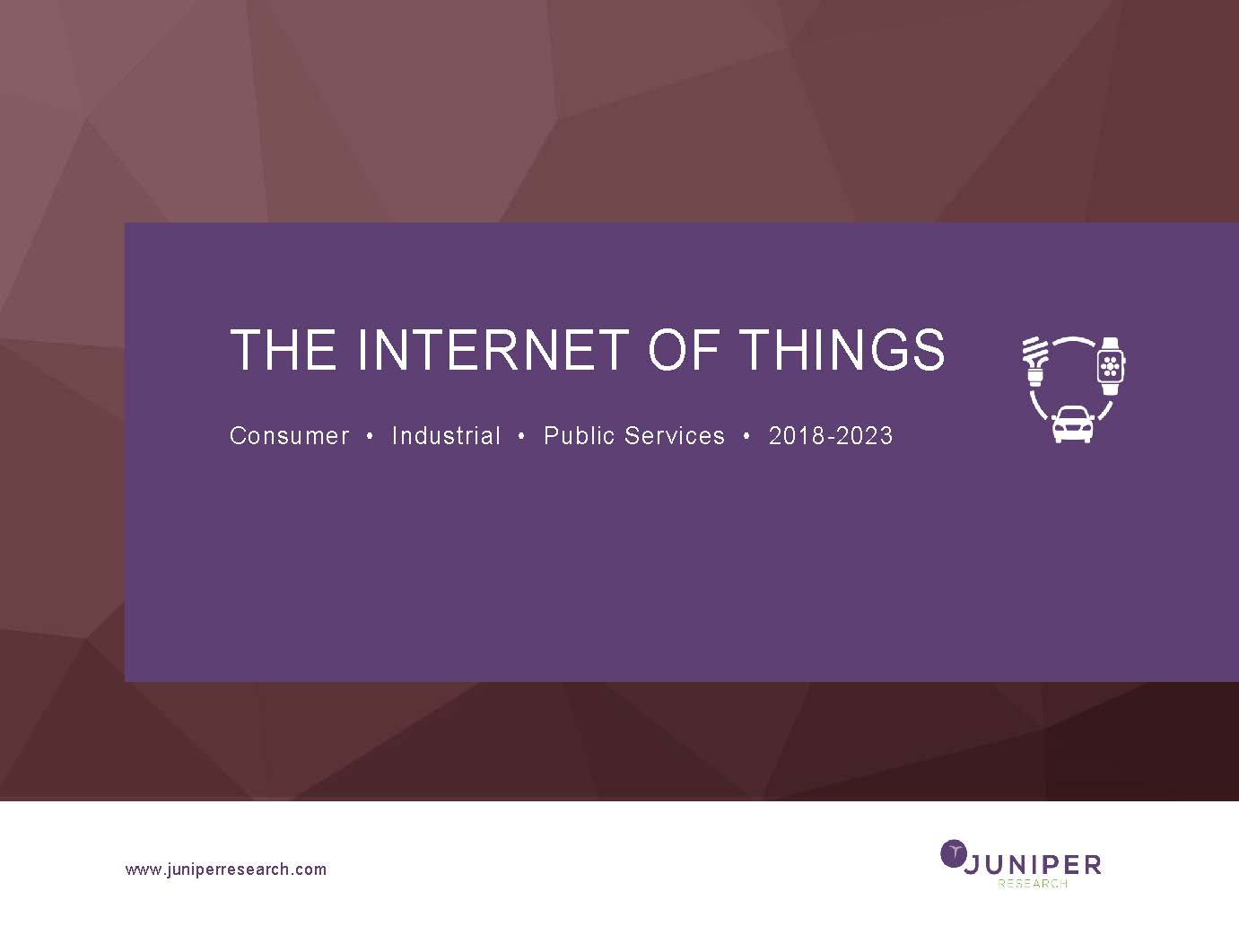 The Internet of Things: Consumer, Industrial & Public Services 2018-2023