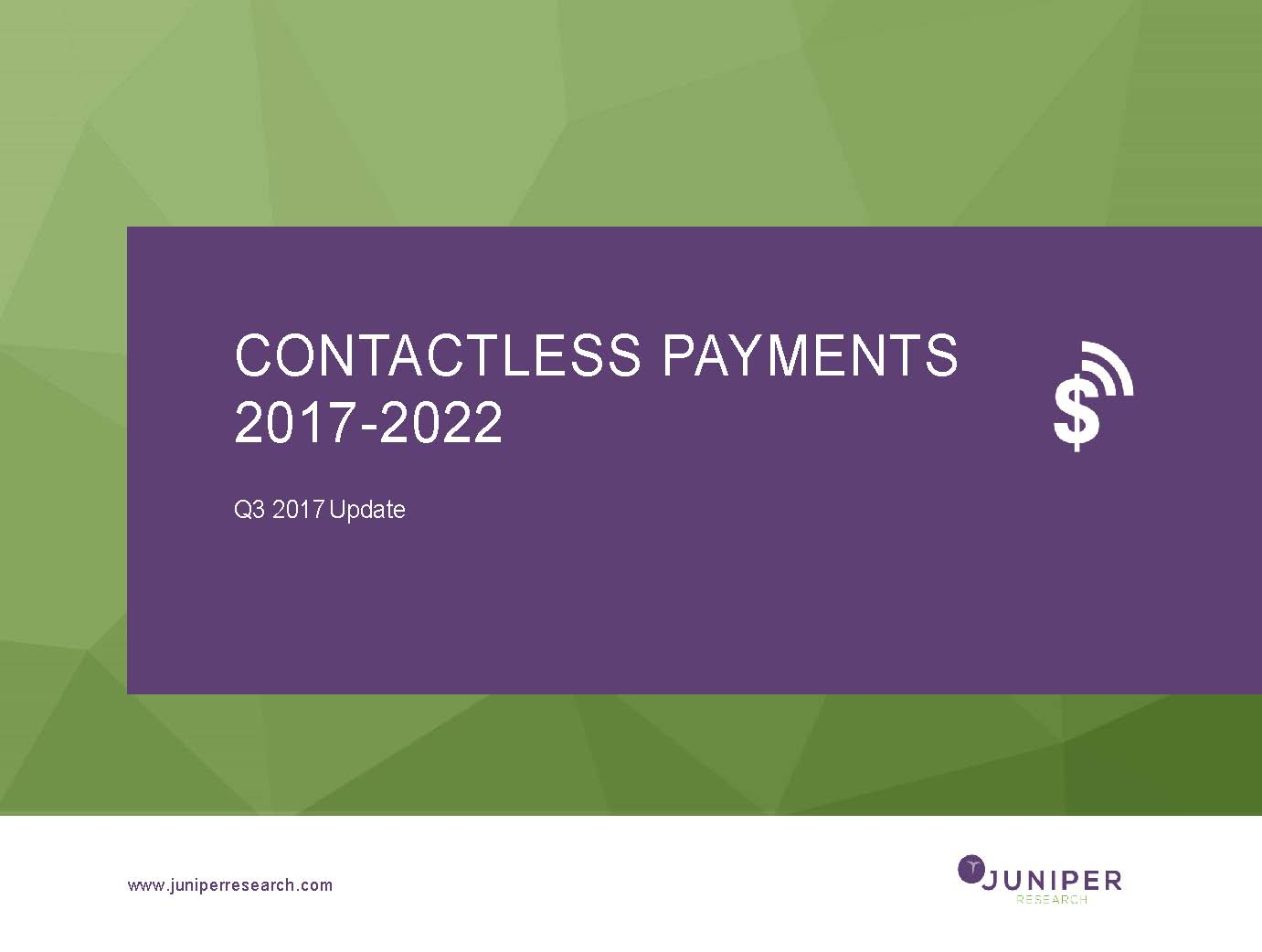 Contactless Payments - Q3 2017
