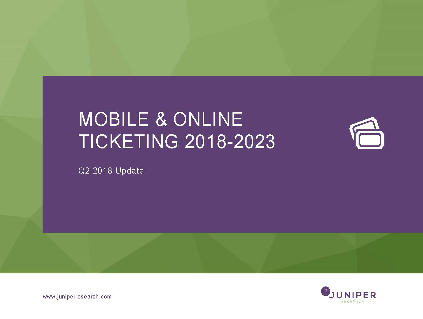 Mobile & Online Ticketing - Q2 2018