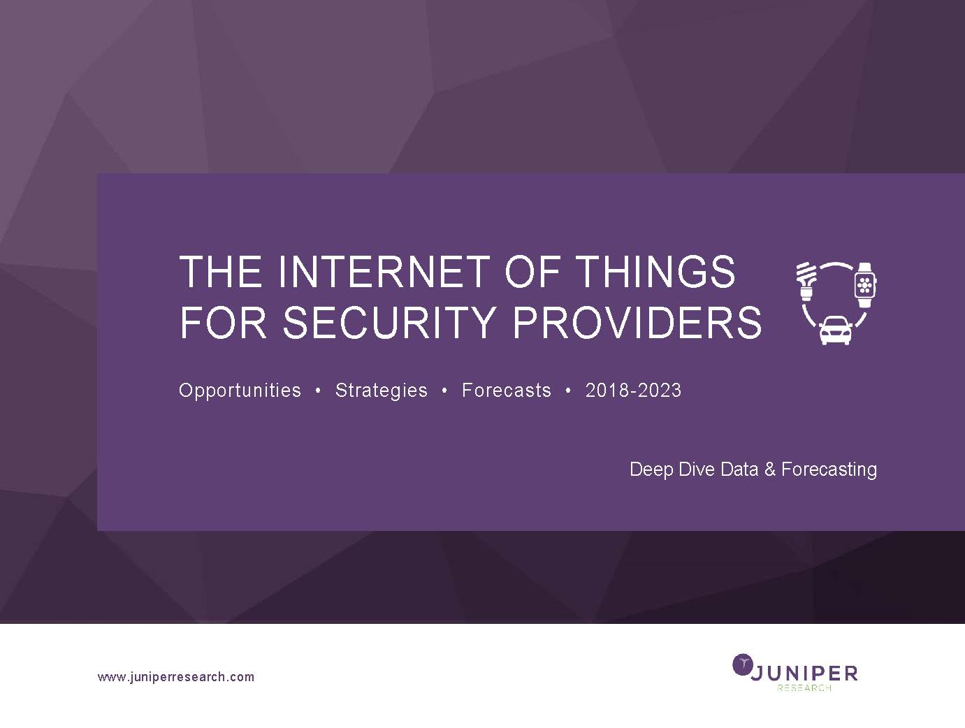 The Internet of Things for Security Providers - Deep Dive Data 2018-2023