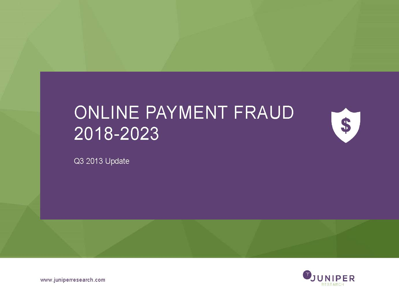 Online Payment Fraud - Q3 2018
