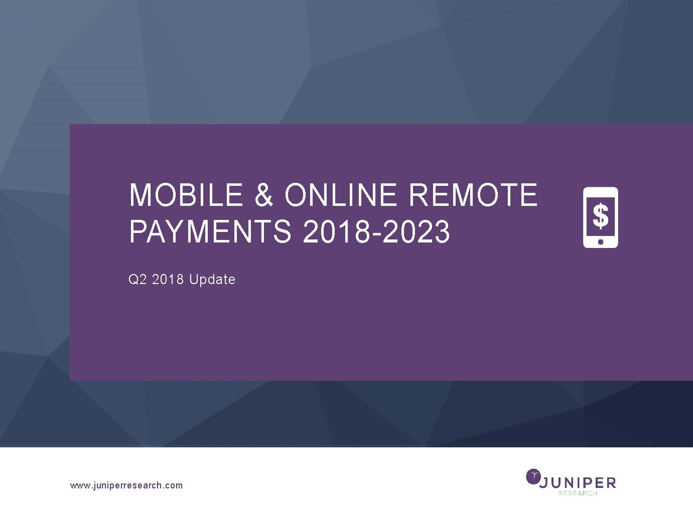 Mobile & Online Remote Payments - Q2 2018